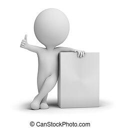 коробка, продукт, люди, -, маленький, пустой, 3d