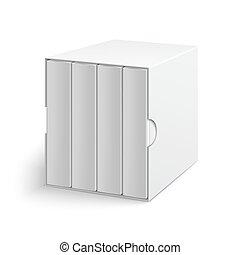 коробка, серый, группа, обложка, books, пустой, белый