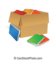 коробка, books