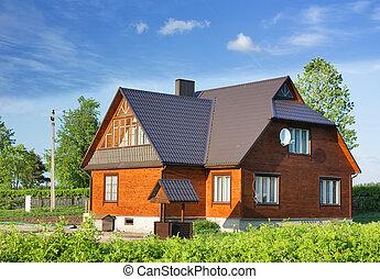 коттедж, деревенский дом
