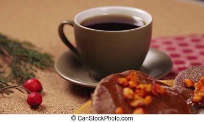 кофе, шоколад, блин, кружка