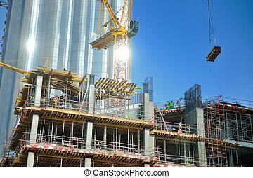 кран, строительство, сайт