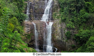 красивая, большой, водопад