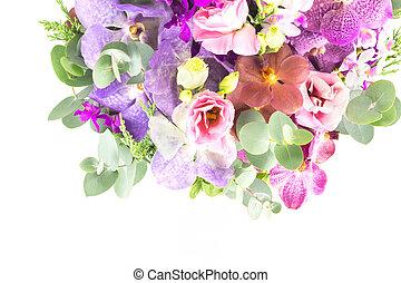 красивая, букет, цветы
