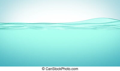 красивая, воды, поверхность, slowmo