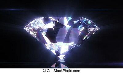 красивая, крупный план, бриллиант, штейн