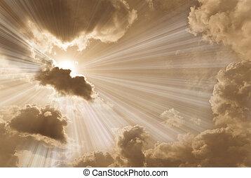 красивая, небо