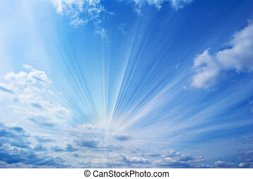 красивая, синий, небо
