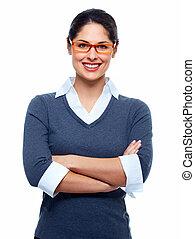 красивая, улыбается, woman., бизнес