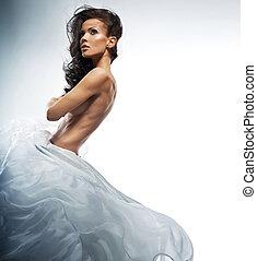 красивая, фото, of, удивительно, женщина