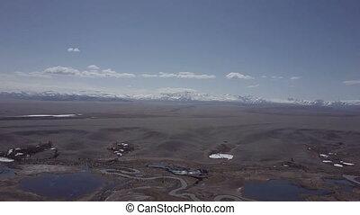 красивая, landscape., нагорье, рейс, вверх, siberia., алтай...