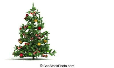 красивая, looped, дерево, рождество