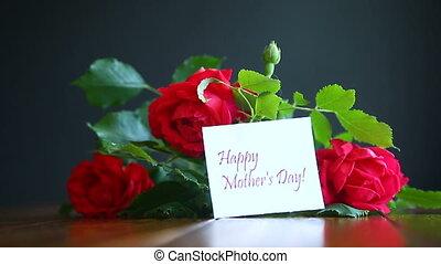 красивая, roses, красный, blooming