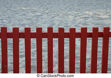 , красный, забор