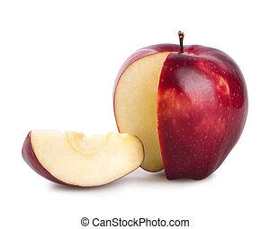 красный, яблоко