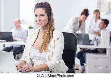 красота, работник, женский пол, офис