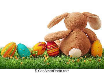 красочный, пасха, eggs