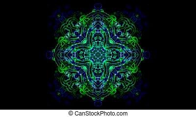 кристалл, мандала, цветок, фантазия, стакан