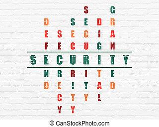 кроссворд, безопасность, головоломка, concept: