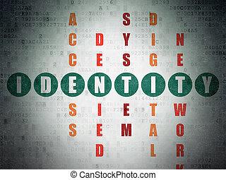 кроссворд, головоломка, идентичность, concept:, конфиденциальность