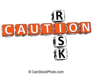 кроссворд, осторожность, риск
