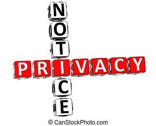 кроссворд, уведомление, конфиденциальность