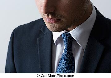 крупный план, of, бизнес, человек