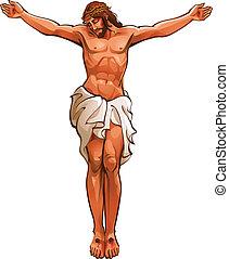 крупный план, of, иисус, христос