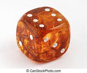 куб, из, янтарный