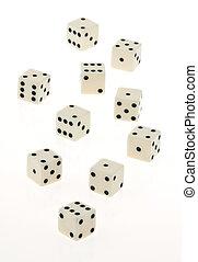 куб, of, игра, на, , белый, background.