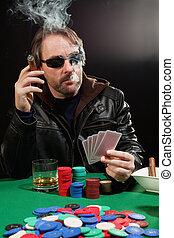 курение, азартный игрок