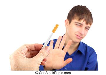курение, нет