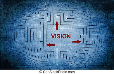 лабиринт, концепция, видение