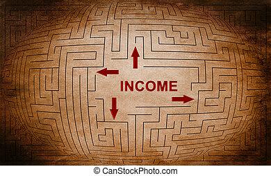 лабиринт, концепция, income