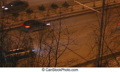 легковые автомобили, дорога, driving, город, ночь