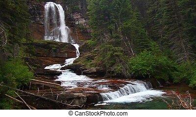 ледник, парк, виргиния, falls