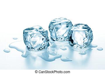 лед, cubes