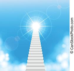 , лестница, к, небо