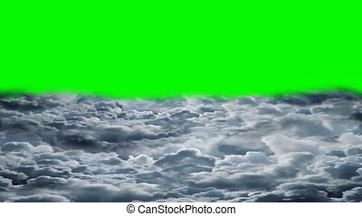 летающий, clouds, над