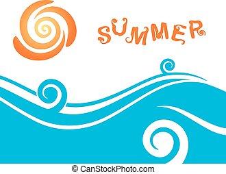 лето, море