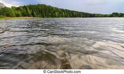 лето, озеро