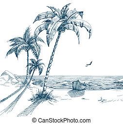 лето, пляж