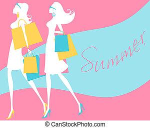 лето, поход по магазинам
