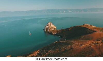 лето, olkhon, baikal., shamanka, озеро, остров, трутень