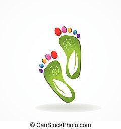 лечение заболеваний ног, значок, логотип