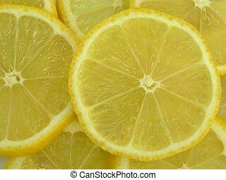лимон, slices