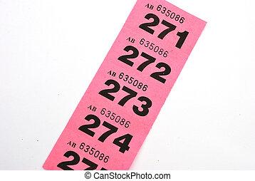 линия, of, участвовать в лотерее, tickets