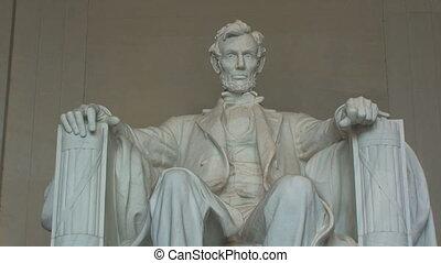 линкольн, мемориал, в, вашингтон