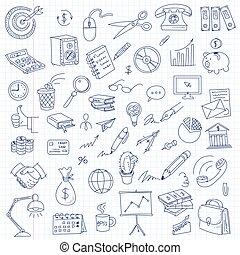 лист, офис, книга, от руки, рисование, упражнение