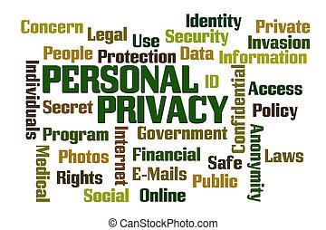 личный, конфиденциальность